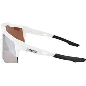 100% Speedcraft Brille Tall matte white hiper silver/HD multilayer/hiper